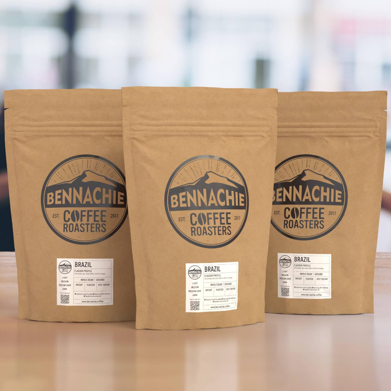 bennachie coffee packaging