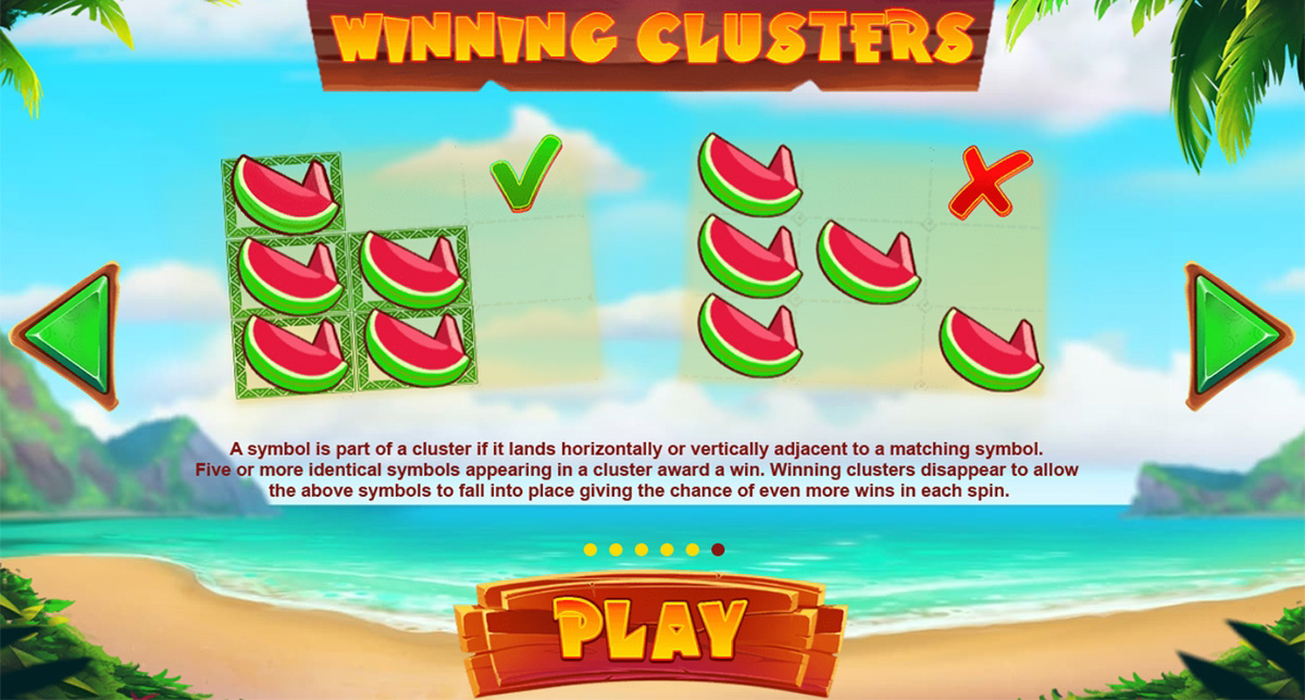 tiki fruits slot clusters