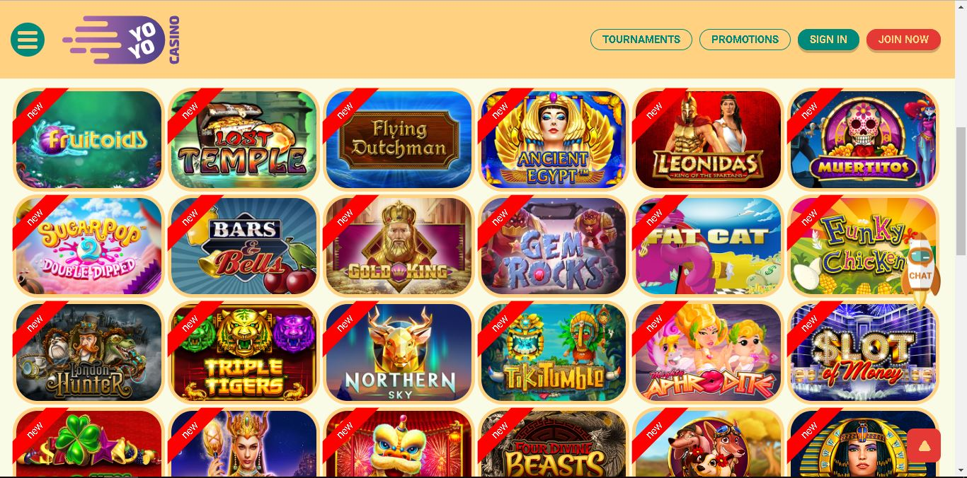yoyo casino slots