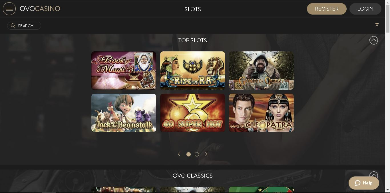 ovo casino slots