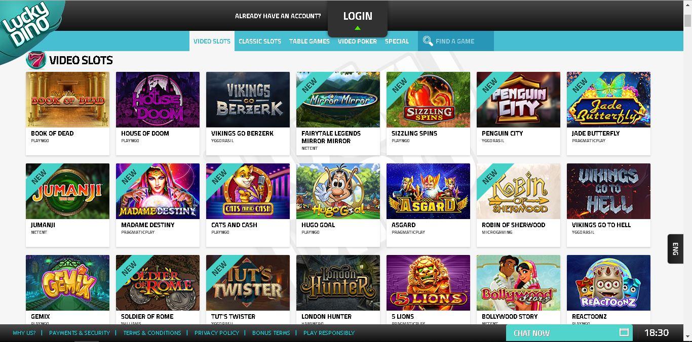 luckydino casino slots