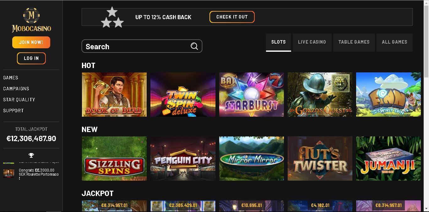 mobo casino slots