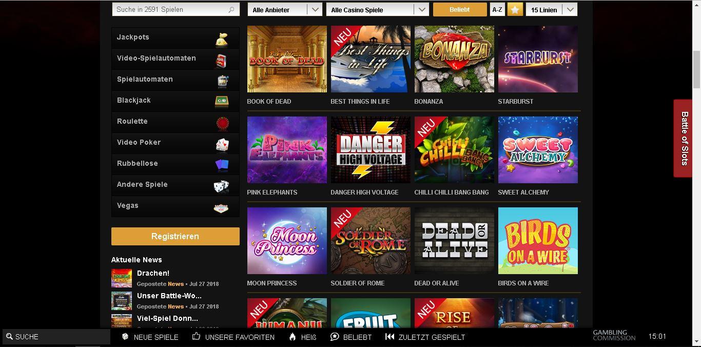 videoslots casino slots