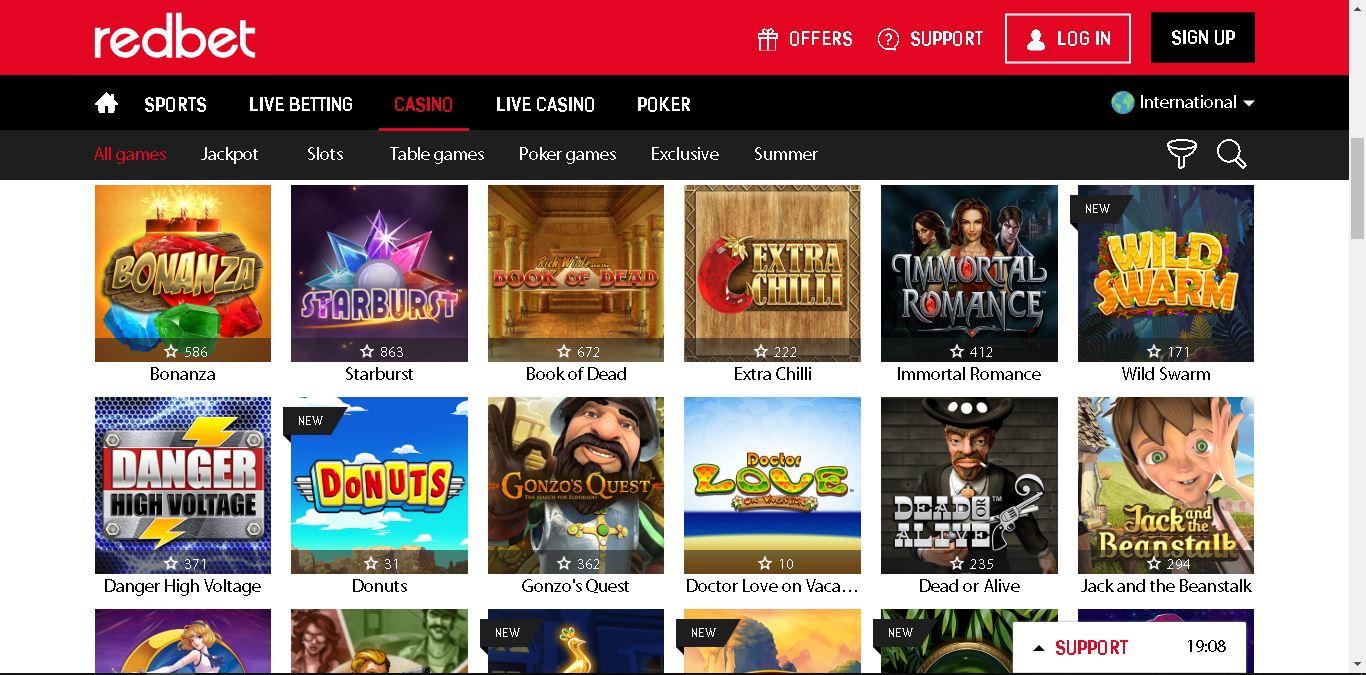 redbet casino slots