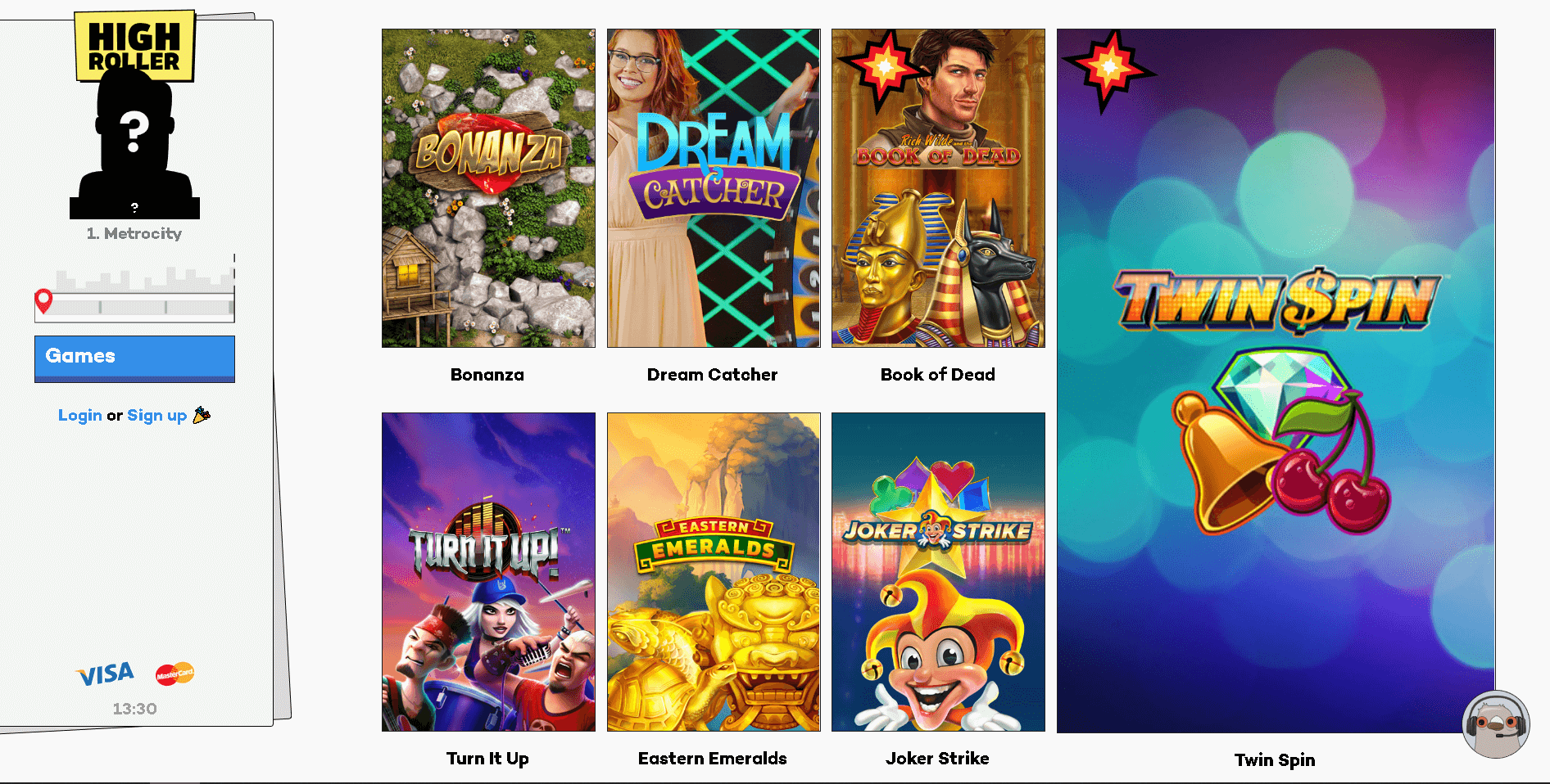 highroller casino slots