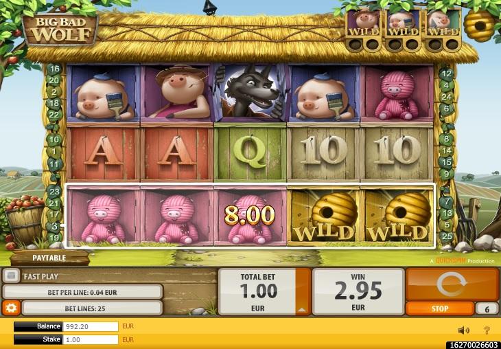 Big Bad Wolf slot win