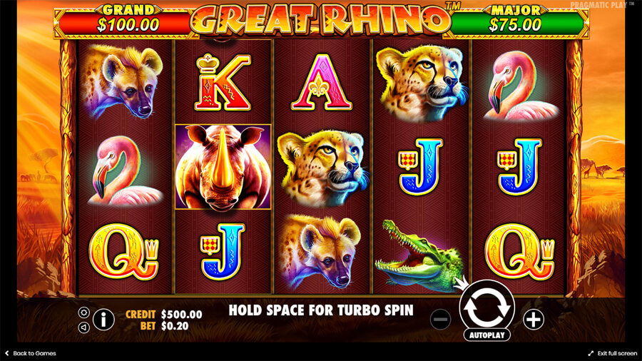 great rhino slot review