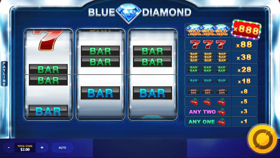 blue diamond slot review