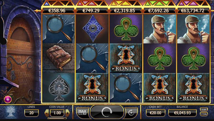Holmes and the Stolen Stones slot review