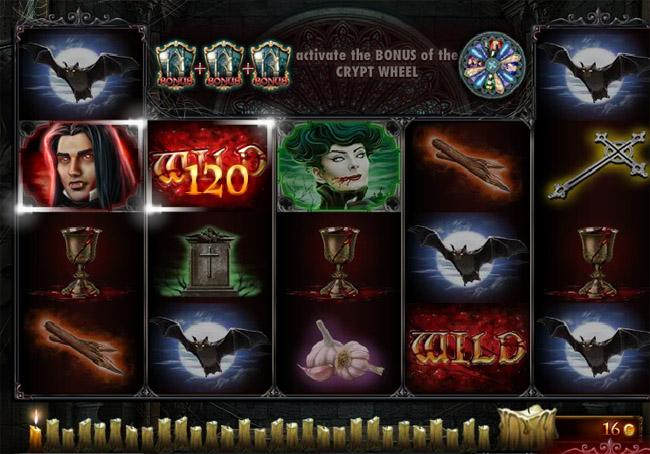 Crypt of the Vampires slot Red Rake Gaming