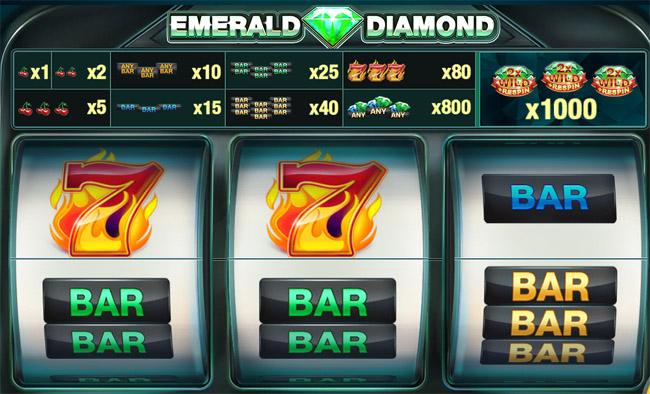 Emerald Diamond slot paytable