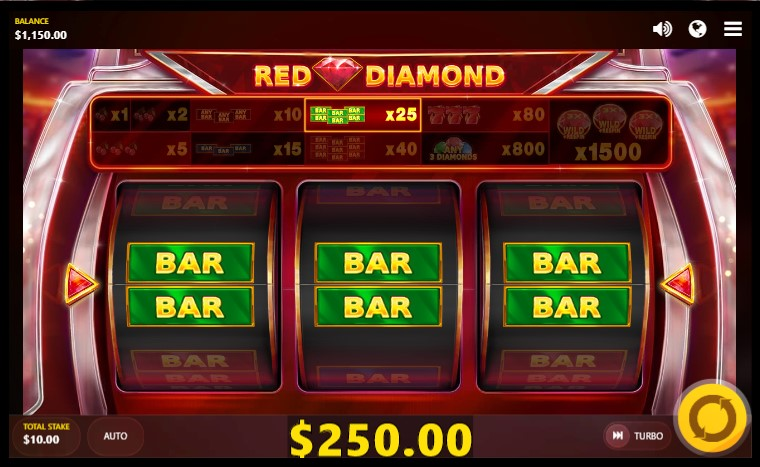Red Diamond slot by Red Tiger Gaming