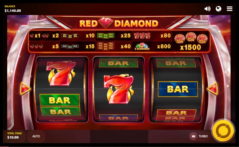 Red Diamond slot paytable