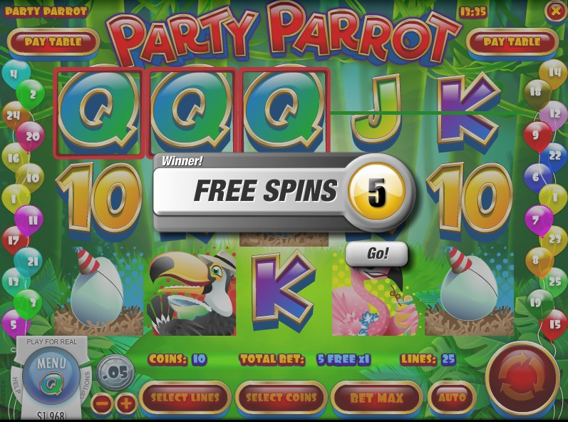Party Parrot slot by Rival Gaming