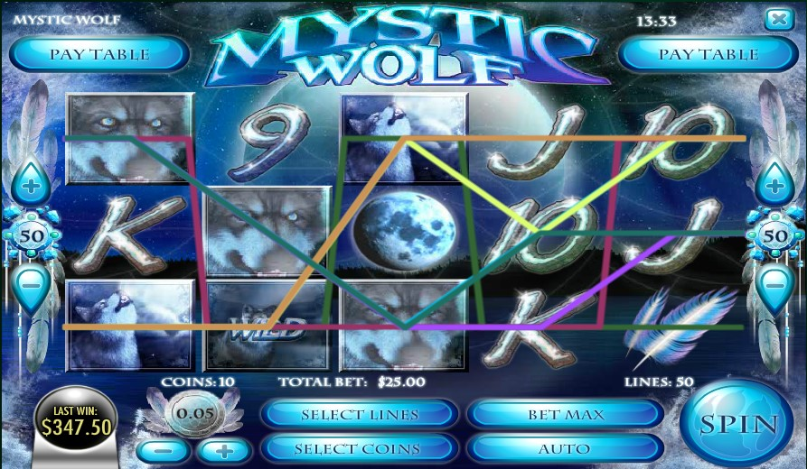 Mystic Wolf slot by Rival Gaming