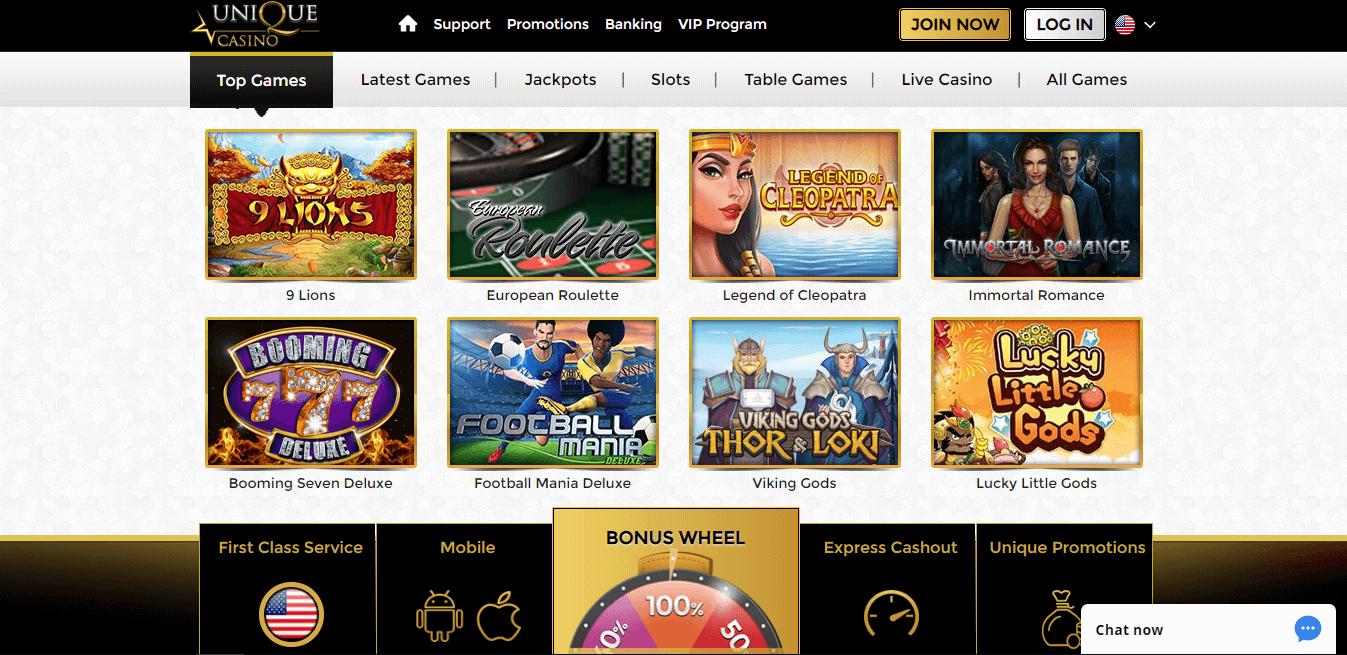 unique casino slots