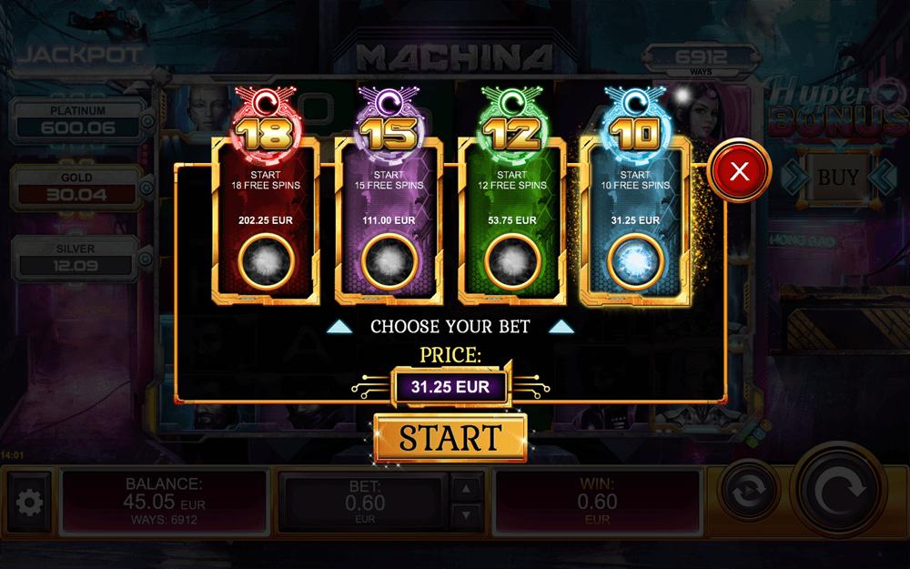 machina megaways bonus