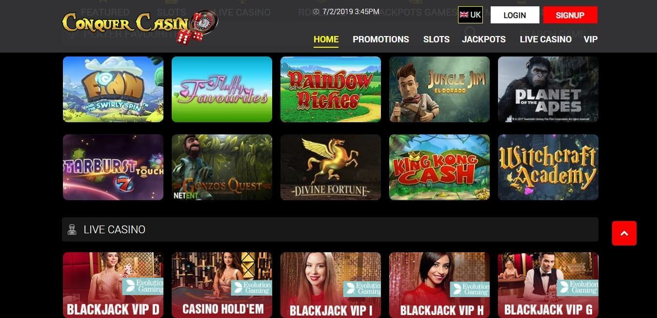 conquer casino slots