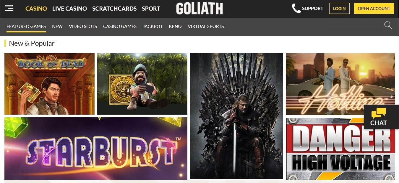 goliath casino slots