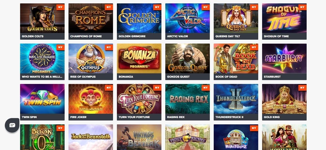 ninja casino slots
