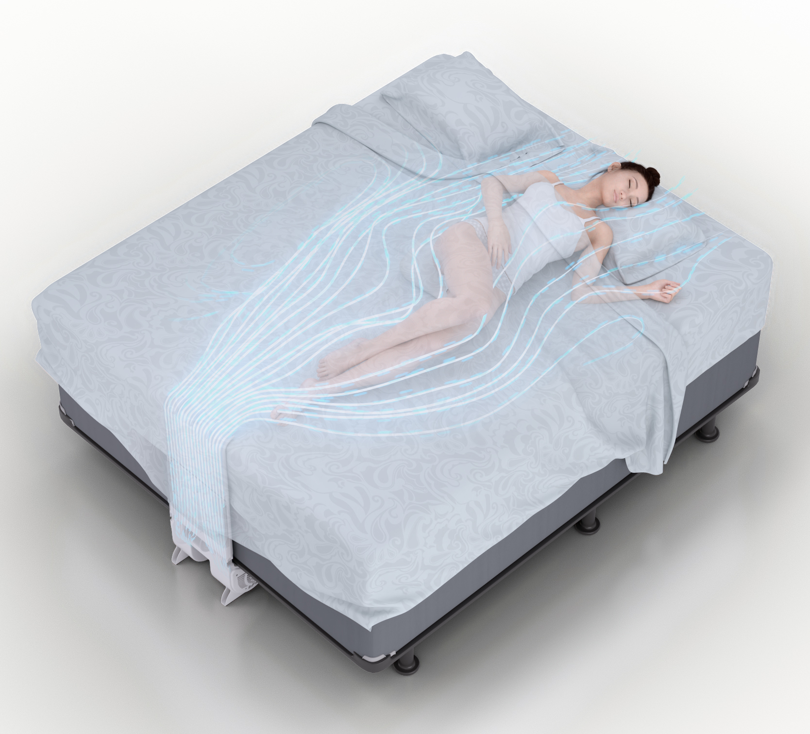 Bfan 174 And Original Bedfan Personal Cooling System For