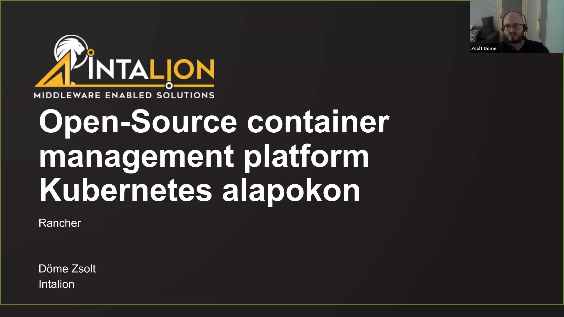 Rancher: open source container management platform Kubernetes alapokon