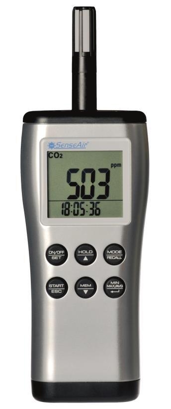 pSENSE II CO2-, lämpötila- ja kosteusmittari