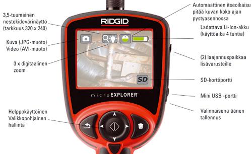 RIDGID microEXPLORER Tarkastuskamera