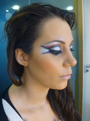 Fashion make-up image from ICON Make-up Courses