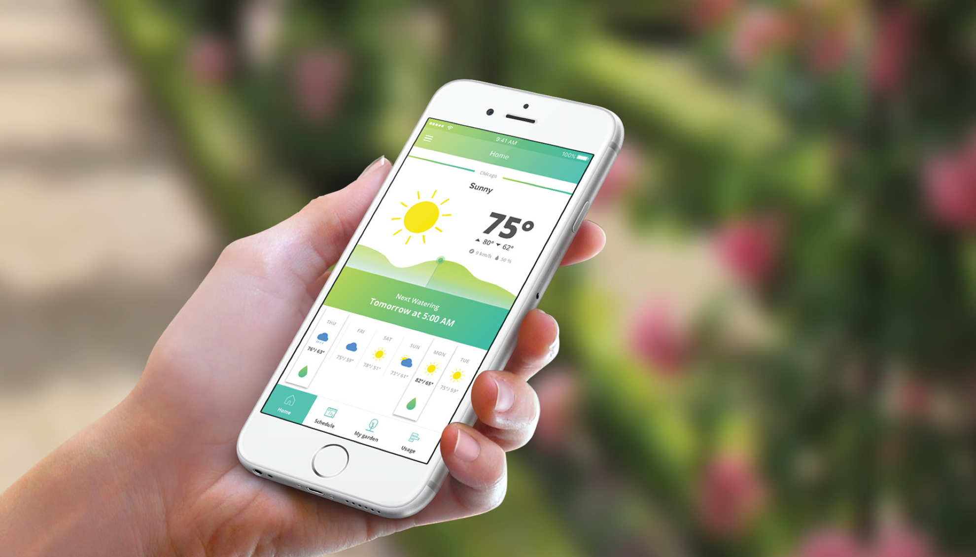 A smart watering experience