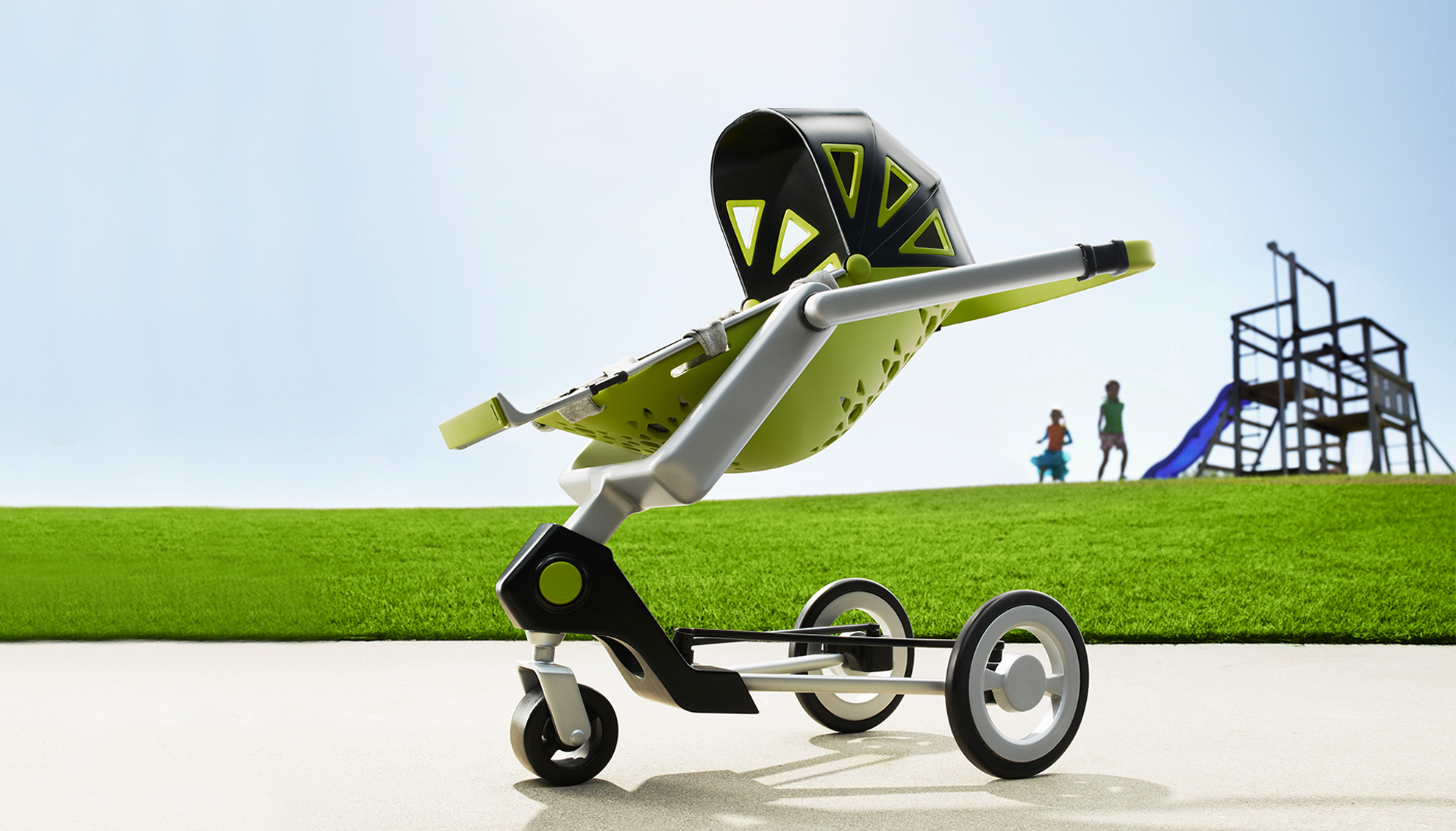 A stroller throughout a child's journey