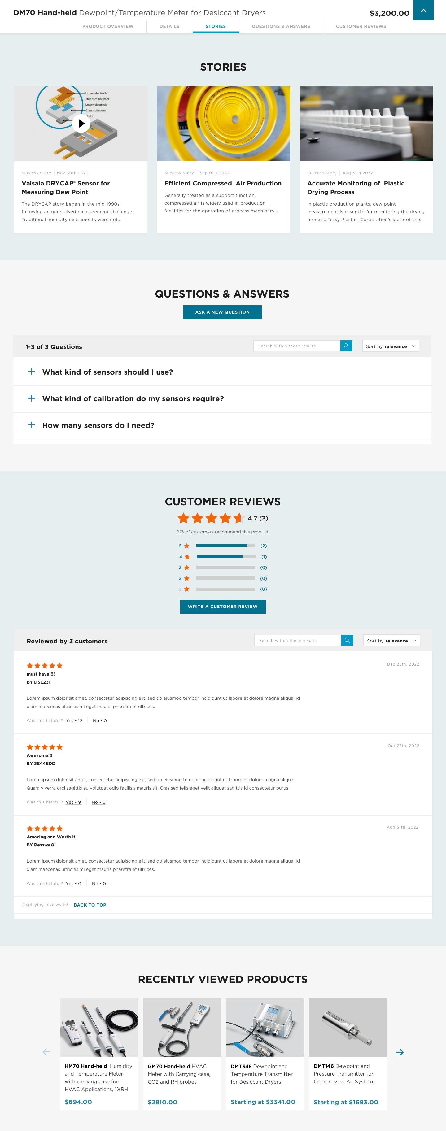 Vaisala online store product details