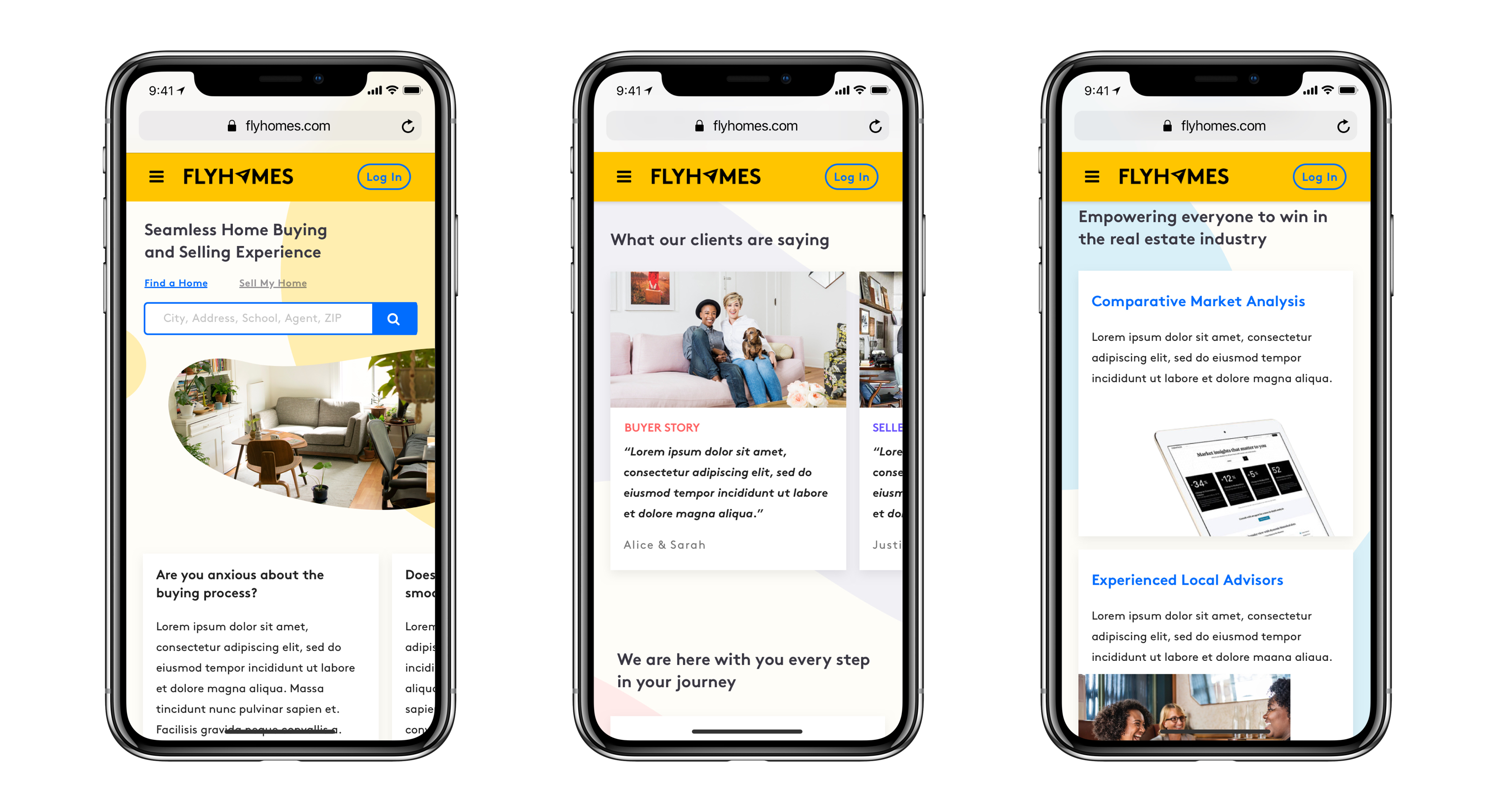 flyhomes homepage redesign mobile responsive