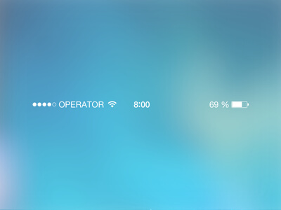 iOS7 Status Bar Sketch UI Kit