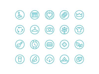 Festival icons UI Kit for Sketch