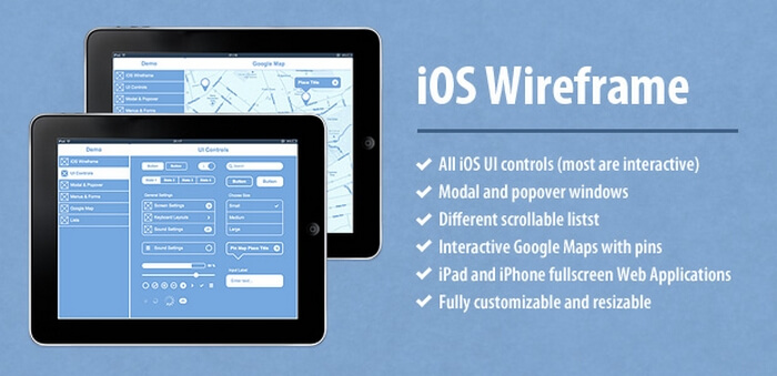Axure iOS Wireframe Widgets Library