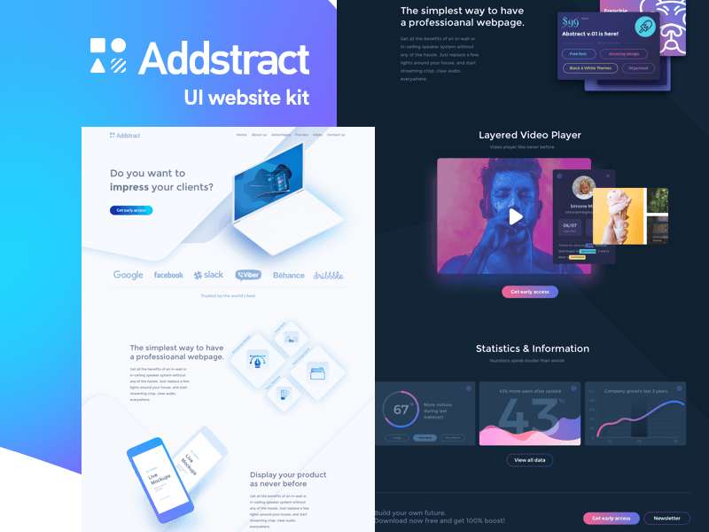 Addstract UI Kit for Sketch