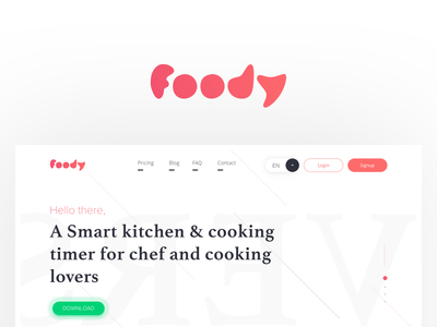 Foody Landing Page UI Kit for Sketch