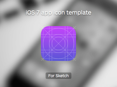 iOS 7 app icon template UI Kit for Sketch