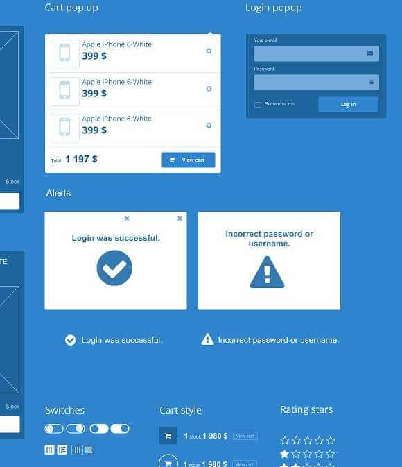 Ecommerce & Web UI Kit for Axure