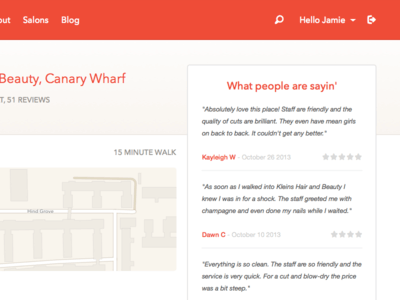 Sketch Web app to find hairdressers + source UI Kit