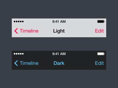 Navigation Bars iOS7 Sketch UI Kit