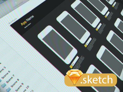 iPhone 5/5s Wireframe Sketch UI Kit