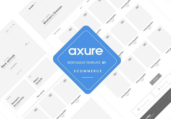 Axure responsive Ecommerce template1