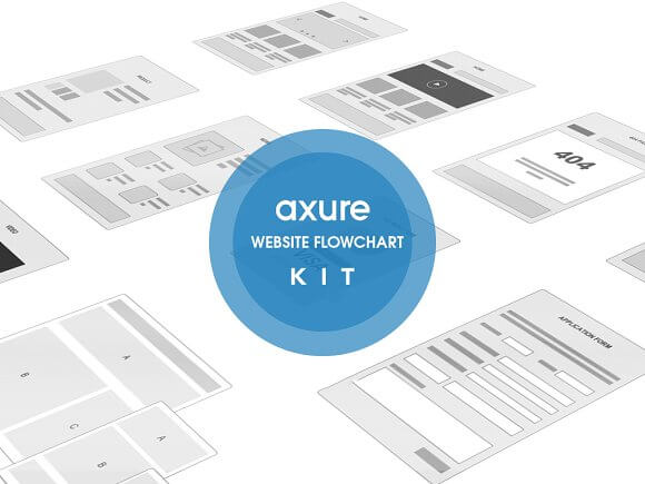 Axure Website Flowchart sitemap Kit