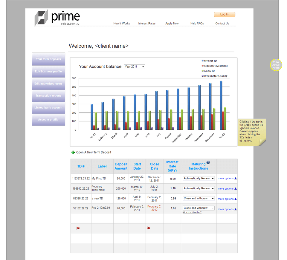 Axure Online Banking Prototype