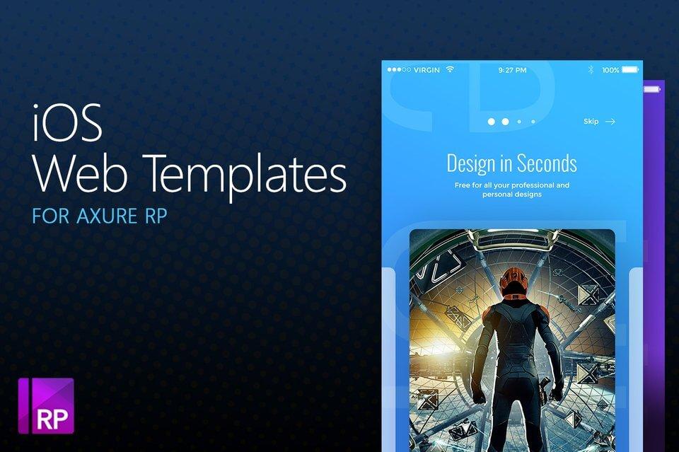 Axure iOS Web Templates