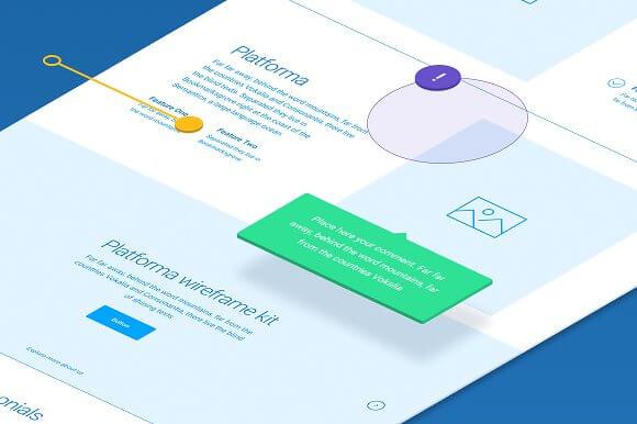 Platforma Wireframe Sketch UI Kit