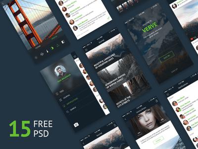 Verve Photoshop UI Kit
