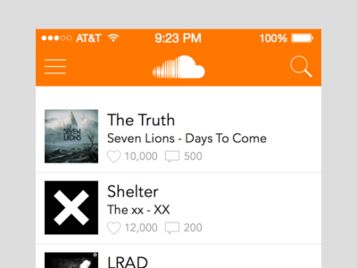 SoundCloud iOS Redesign Sketch UI Kit